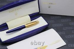 Waterman Edson Sapphire Blue Fountain Pen