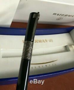 Waterman Serenite Fountain Pen Black 18Kt Gold Medium Pt, Used, with box