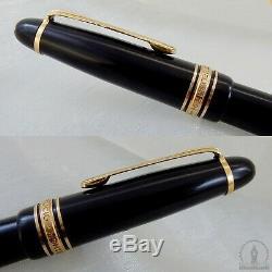 1ère Édition Montblanc 144 Fountain Pen 14k Flex Nib Fabriqué En Allemagne C1950