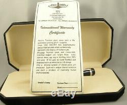 Ancora Perla Prima Rouge Withblack Cap Limited Edition Fountain Pen In Box 2002 Monnaie