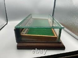 Années 1920 Parker Lucky Curve Stylo De Fontaine Affichage En Bois Boîtier 23 Stylos Waterman Tray