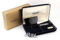 Aurora 88 Argento Massiccio. 925 Argent / Noir Stylo Plume En Résine