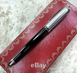 Authentique Cartier Fountain Pen Roadster Circulaire 18knib Withbox & Graine De Papier (mint)