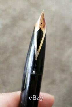 Black Gold Snorkel Vintage Sheaffer Stylo-plume Des Années 1960 Points Blancs