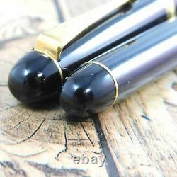 C'est Bien! Pilot Custom74 Funtain Pen Vinage Black Gold 14k-585 Nib F Japon