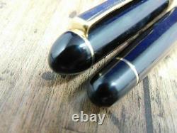C'est Bien! Platinum Century #3776 Black Funtain Pen Vintage 14k Nib F Japon