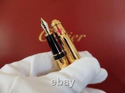 Cartier Diabolo India Inspiration Fountain Pen New Compl. Set W. /stamped Cert