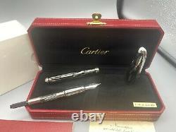Cartier Louis Fontaine Pen Roman Numeros Limited Edition 18k Med Nib Nouveau Y2008