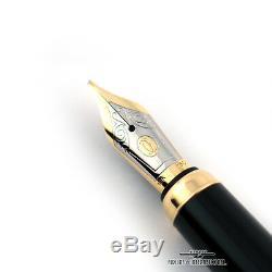 Cartier Python Plaqué Or Et Laque Noire Limited Edition Fountain Pen