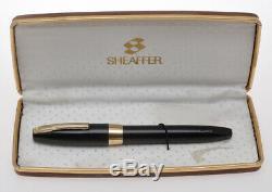 Cru Sheaffer Pfm Pen Pour Fontaine Oversize Noir Hommes Pen Exc +++