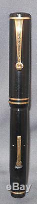 Eversharp Vintage Rouleau Noir Clip Fountain Pen-travail