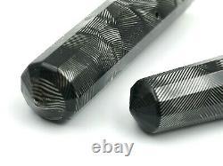 Fine Art Déco C1937 Eversharp Doric Black Silver Shell Hatch Fountain Pen 14k