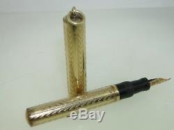 Gold Antique 1920 Rempli Ring Top Fountain Pen! 3 1/2 Shaeffer No. 1 Nib