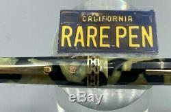 Grail Wahl Eversharp Dorique Pearl & Black Fountain Pen # 7 Nib Réglable Mint