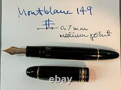 Légèrement Utilisé Montblanc Meisterstuck 4810 Stylo De Fontaine 14k Gold Nib 585