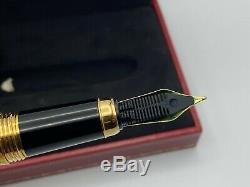 Louis Cartier Fountain Pen Limited Edition Or / Noir Laqué 18k Med Box Mint