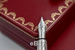 Louis Cartier Railroad Décor Noir Laqué Limited Edition 422/1847 Fountain Pen