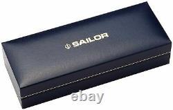 Mailor Professional Gear Silver Stylo De Fontaine Noir Large Nib 11-2037-620