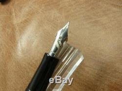 Marlen Stylo Plume. IL Aleph Fountain Pen Flex Nib Piston De Remplissage En Noir Numbrd