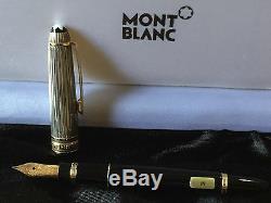 Meisterstück 925 Black & Sterling Fountain Pen M Nib