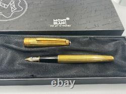 Montblanc 144 Fontaine Sterling Silver Vermeil 18k Med Nib Nouveau Petit Numéro