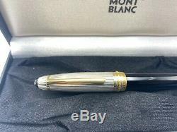 Montblanc 146 Ds Legrand Pen Doué En Argent Sterling 18k + Étui Plume Boxed
