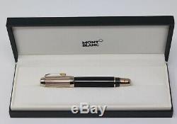 Montblanc Boheme Doue Ligne Fontaine Pen Gold Nib Cognac Black Jewel 101993