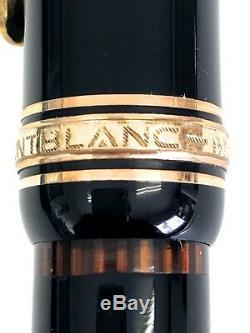 Montblanc Chef-d'œuvre Fountain Pen 14c585 Type Noir M Du Japon