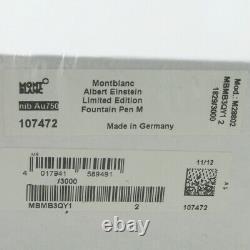 Montblanc Grands Caractères Albert Einstein Fp M XXXX / 3000 Scellé En Usine