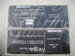 Montblanc Limited Edition Agatha Christie Fontaine Stylo Crayon Set Sealed