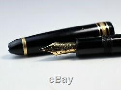 Montblanc Meisterstück 146 Fountain Pen Nib Avec 14c Encre Noire