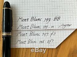Montblanc Meisterstück 146 Fountain Pen Noir / Or Fin 1991 Supplémentaire