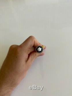 Montblanc Meisterstück 146 Fountain Pen. Or Noir. Bien. Utilisé. Excellent