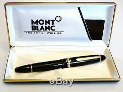 Montblanc Meisterstück 146 Le Pen Grande Fontaine En Noir Et Or 14k F Nib