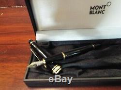 Montblanc Meisterstück 149 Diplomat Black & Gold Fountain Pen 14k Avec Des Recharges D'encre