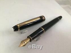 Montblanc Meisterstück Classique Fountain Pen Black F Semiflex Monotone 144