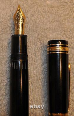 Montblanc Meisterstucke Black #149 Nib 14k 585 Gold Allemagne Fountain Pen