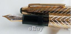 Montblanc Solid Gold Bi Couleur Fountain Pen Medium Pt 18kt Neuf Dans La Boîte 144sg