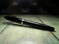Montblanc Vintage 042g Fountain Pen-jet Black-14k Nib-allemagne 1954-1956
