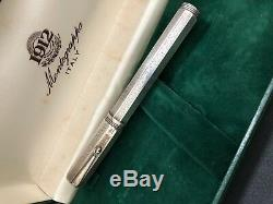 Montegrappa En Argent Sterling Réminiscence Fountain Pen Vintage