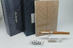 Montegrappa Heartwood Lumière Teck En Acier Inoxydable Fountain Pen Portable
