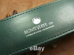 Monteverde Invincia Deluxe Fibre De Carbone Noir Stylo-plume Neuf Dans La Boîte Mv41295