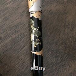 Namiki Art Nippon Maki-e Fontaine Pen Dragon Et Nib Moyen Cumulus