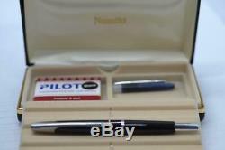 Namiki Fountain Pen Point De Fuite Noir Et Argent Moyen # 60261 B78932 / 33b34