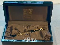 New Pelikan Toledo M700 Fountain Pen Noir Et Or Ef 18k Nib Nouveau