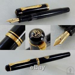 Nos Pelikan M250 Old Style Noir Gt Fountain Pen 14c Fine Nib W-allemagne C1985