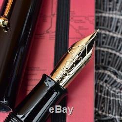 Nouveau Namiki Emperor Large No 50 Stylo-plume En Laque Roiro Urushi Noir Avec Plume 18k
