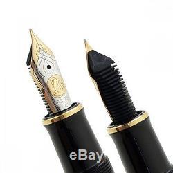 Nouveau Pelikan Souverän M800 Noir Stylo-plume En Or 18 Carats Nib Ef, F, M, B, Bb Rhodium