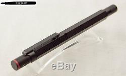Old Rotring 600 Fountain Pen En Noir Avec Knurled Grip Avec Bb-nib
