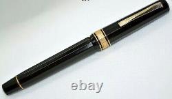 Omas Milord Black (vers 1980) Stylo Plume. Piston. Parfait. Service Complète